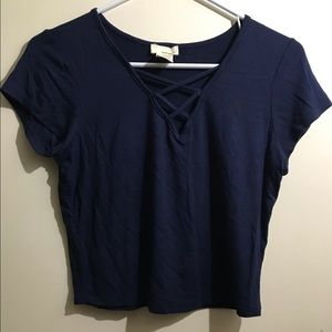 Crop top with front crisscross